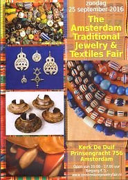 Flyer van The Amsterdam Traditional Jewelry and Textiles Fair, 25 September 2016