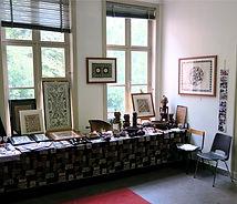 Stand of Galerie Caroline at Antwerp Tribal & Ethnographic Art Fair, September 2015
