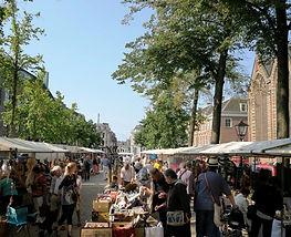 Haagsche Kunst- en Antiekdagen, The Hague, 27 August 2016, looking westward into Lange Voorhout