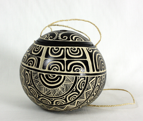 Decorated container with lid