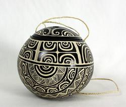 Kokosnoot container met deksel
