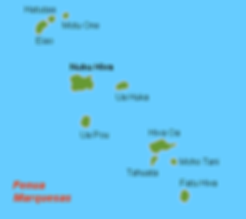 Map of the Marquesan Island Group by Holger Behr