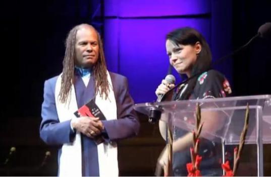 With Michael Bernard Beckwith, Los Angel