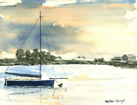 Blue Boat on Crouch
