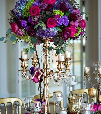 Candelabra Floral Centrepieces