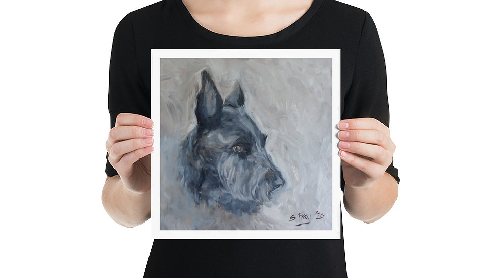 Waiting Patiently - a Scottie Dog print