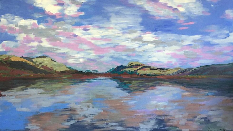"""""""Loch Lomond"""" 1.5M x 1M Acrylic painting"""