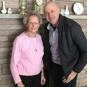 """""""Big thanks to my lunch date Shirley Johnstone and helping set up this afternoon's meet and greet at the Meet & Greet at Tobermory Brewing Company."""" Alex Ruff. Photo credit: The Bruce Peninsula Press"""