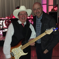 """""""A huge thanks to Arnie Clark and the Ridge River Ramblers for introducing and thanking me for my service yesterday at the Hepworth Shallow Lake Legion. Totally unexpected and humbling. Glad to connect with some old friends and make new ones."""" Alex Ruff (right)."""