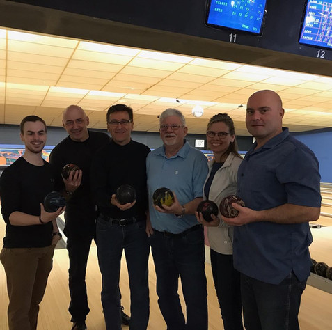 Big Brothers Big Sisters Bowl for Kids Sake raises more than $20,000 for Big Brothers Big Sisters of Owen Sound. Photo credit: Saugeen Times. Alex Ruff (second from left).