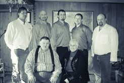 Alex Ruff (second from left), eldest of five sons to Tom and Mabel Ruff. Grew up on a farm just outside Tara, Ontario.