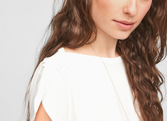 Losse witte T-shirt