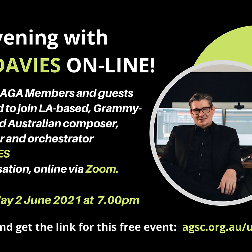 An Evening with Tim Davies - NOW ON-LINE WEDNESDAY 2 JUNE AT 7PM