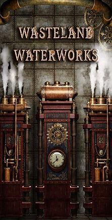Steampunk Engine with Steam for Wasteland Waterworks
