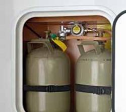 Espace pour bouteille de gaz