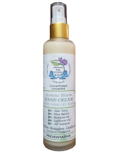 Jasmine Bloom Preventative Natural Hand Cream 100ml