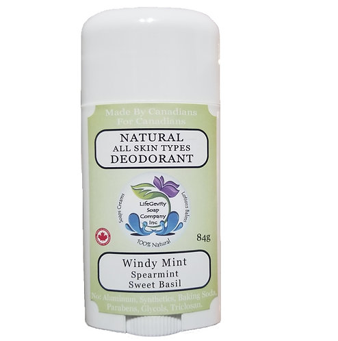 Windy Mint Natural Deodorant 84g