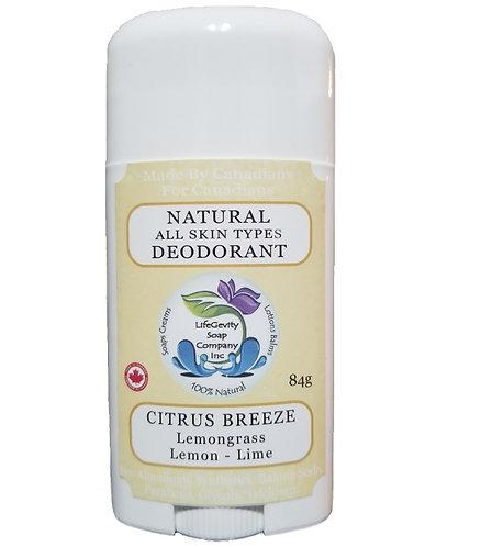 Citrus Breeze Natural Deodorant 84g