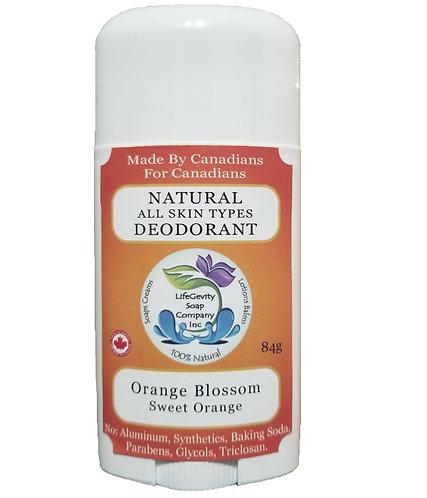 Orange Blossom Natural Deodorant 84g