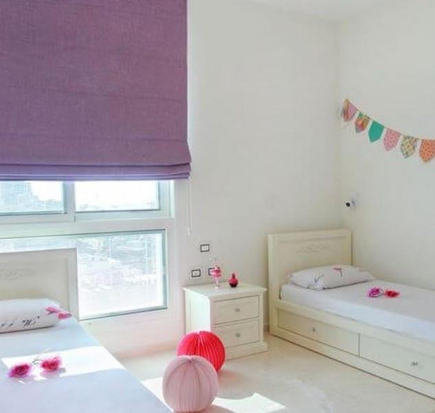 וילון רומאי מעוצב להצללה בחדר שינה ילדים