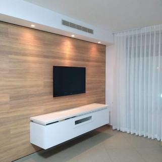 חיפוי קיר טלוויזיה - אגוז אפריקאי