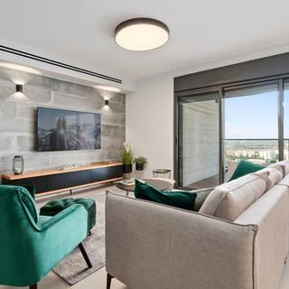 חיפוי קיר טלוויזיה מדגם: Loft concrete