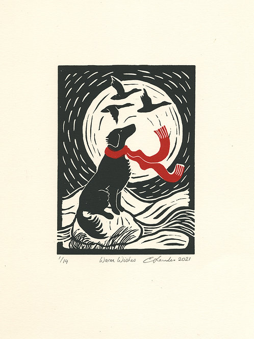 Warm Wishes Limited Edition Lino Print