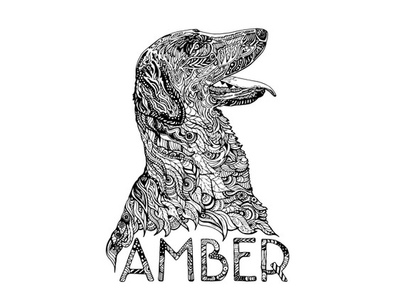 Amber Colouring Page
