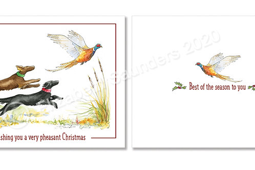 Flat-coated Retriever Christmas Cards, set of 12