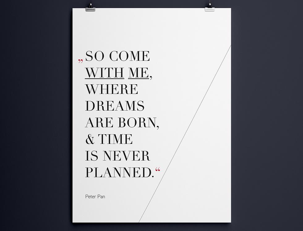 Plakat Poster Design Gestaltung Peter Pan Meike Becker Selbstständige Designerin