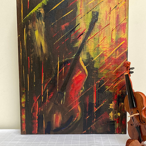 Painting ; Double Bass