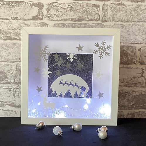 Winter Snow Scene with Snowflakes