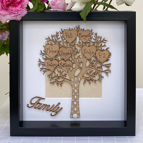 Family Tree in Black Frame