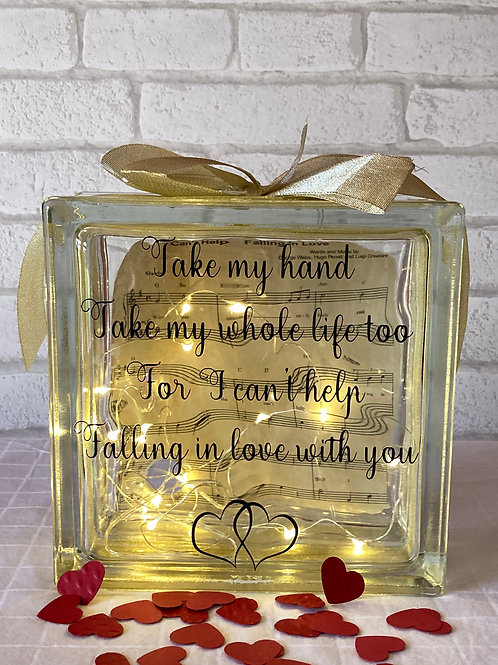 Take my Hand Glass Block