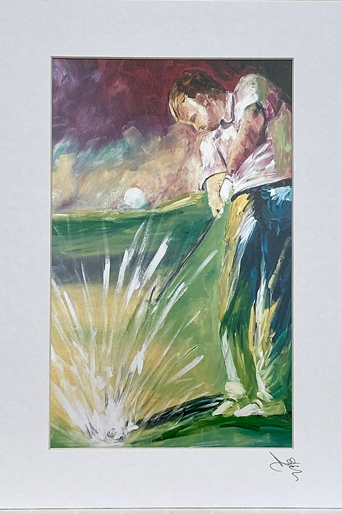 Painting; The Golfer