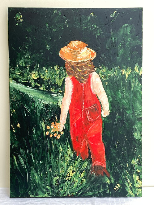 Painting; Red Dungarees