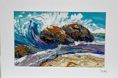 Painting; Crashing Seas