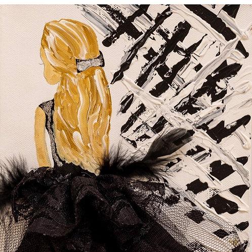 Painting ; Black Ballerina