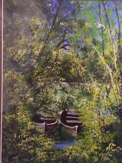 Painting ; Boats Waiting