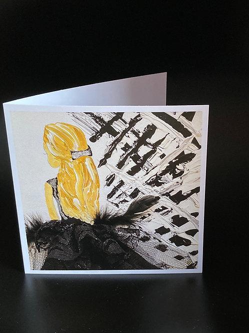 Card; Black Ballerina.