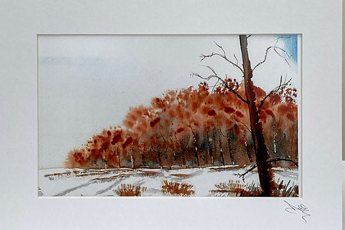 Painting; Winter Scene
