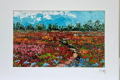 Painting; Field of Poppies