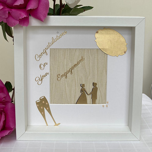 Engagement Frame in Gold