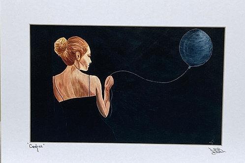 Card; Girl with Balloon