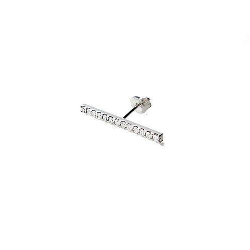 Crystal Bar Pierce Silver