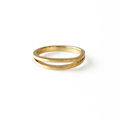 Two Line Gold Ring