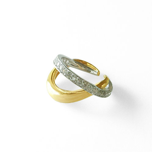 【予約商品】2Face EarCuff Ring Gold