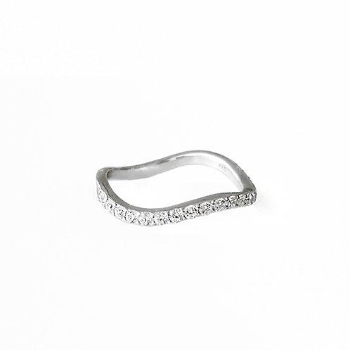 Waving Crystal Ring