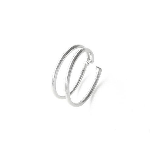 Double Line EarCuff Silver