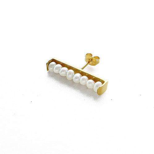 【予約】Pearl Bar Pierce Gold